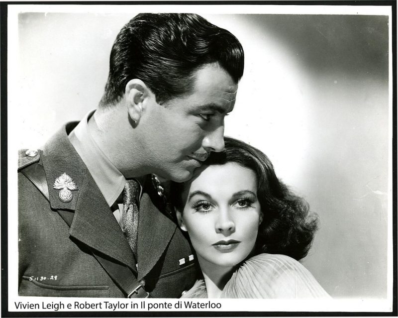 Vivien Leigh e Robert Taylor in Il ponte di Waterloo