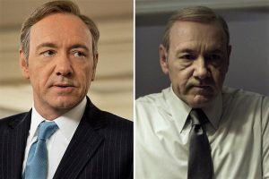 Kevin Spacey nei panni di Frank Underwood nella prima e nella quarta stagione di House of Cards