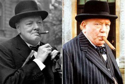 Winston Churchill e Albert Finney